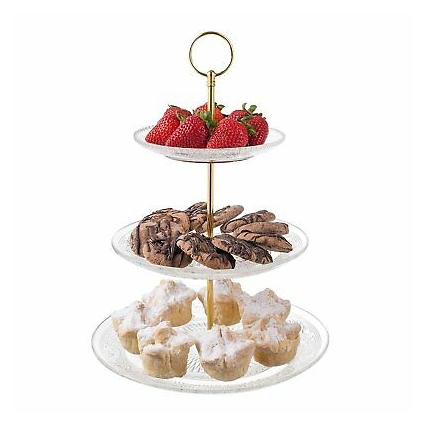 3-Tiered Serving Stand (Glass) Beautiful, Elegant...