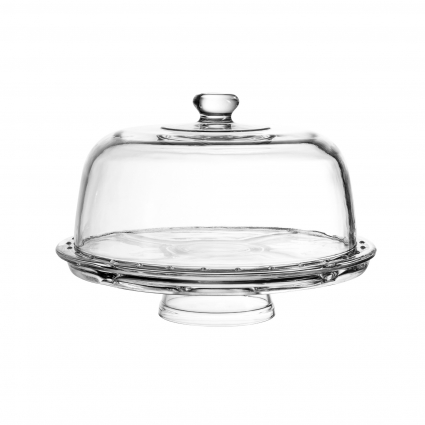 Royalty Art Cake Stand with Dome (6-in-1 Design) Multifunctional Serving Platter for Kitchens, Dining Rooms, Pedes Glass Durabilitytal or Cover Use, Elegant